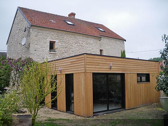 Agrandissement maison bois id ale pour cr er une nouvelle - Annexe maison ossature bois ...