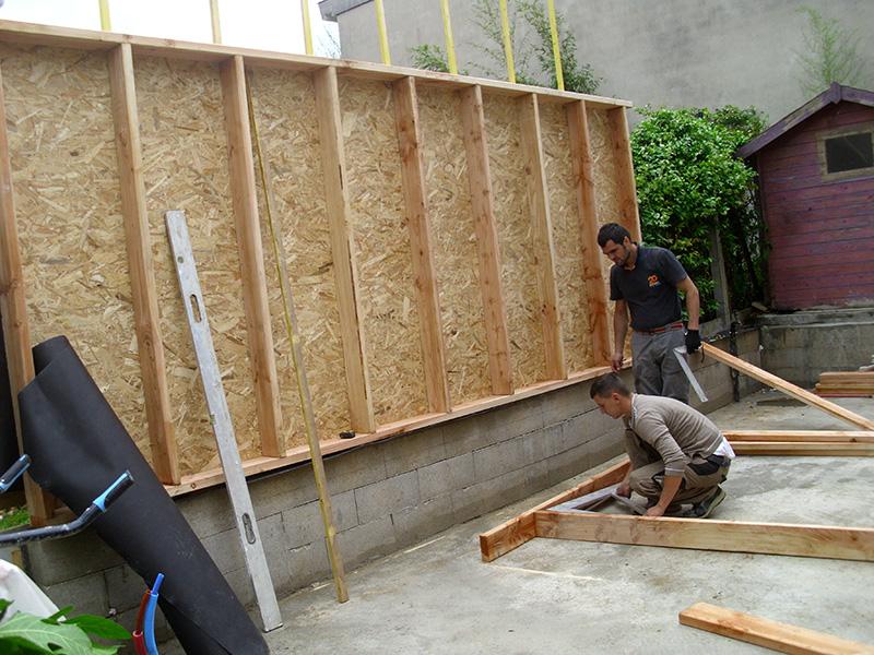 agrandissement maison individuelle bois surelevation